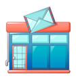postal office icon cartoon style vector image