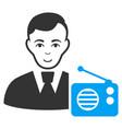 radio dictor icon vector image