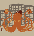 Rampaging Giant Squid vector image vector image