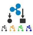 ripple cashflow icon vector image vector image