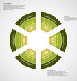 Round infographic consists of six green parts vector image vector image