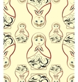 Russian Dolls pattern vector image