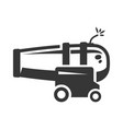 ship cannon gun bold black silhouette icon vector image vector image