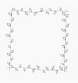 simple frame with plant elements vector image vector image