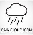 simple rain cloud icon vector image vector image