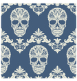 Skull Swirl Decorative Pattern vector image vector image