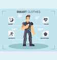smart clothes vector image vector image