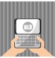 Smartphone design Media icon Flat vector image vector image