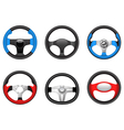 steering wheels vector image vector image