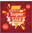 super sale up to 50 20 off special offer vector image vector image
