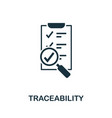 traceability icon symbol creative sign vector image vector image
