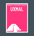uxmal yucatn mexico monument landmark brochure vector image