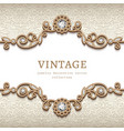 vintage jewellery card with flourish decoration vector image vector image
