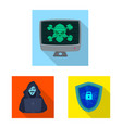 virus and secure sign vector image