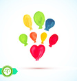 Watercolor Balloons vector image