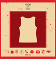 women t-shirts the silhouette menu item in the vector image