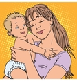 young mother baby vector image vector image
