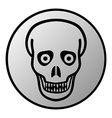 Zombie button vector image vector image