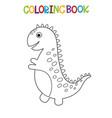 cute dino coloring book vector image