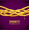 Spaghetti background vector image