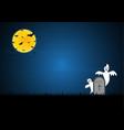 halloween white ghost gravestone moon bat vector image