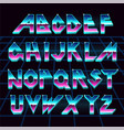80 s retro alphabet font vector image vector image