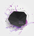 abstract background with modern black crystal vector image