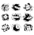 Abstract set of blobs splash labels vector image vector image