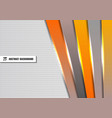 abstract template orange and gray diagonal vector image vector image
