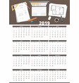 architect house plan calendar 2019 vector image vector image