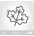 Autumn Leaves maple outline icon vector image vector image