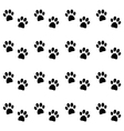 background with black paw prints vector image vector image