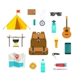 Backpacking hiking things collection traveler vector image vector image
