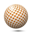 Ball with orange stars isolated vector image