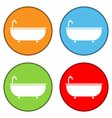 Bathtub icons set vector image vector image