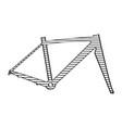 bike frame sketch vector image vector image