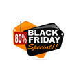 black friday special discount 80 percent vector image vector image