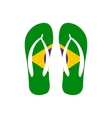 Brazilian flip flops icon flat style vector image vector image