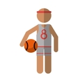 character player basketball with headband vector image