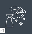 cleaning related thin line icon vector image vector image