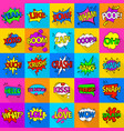 comic colored sound icons set flat style vector image vector image