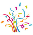 confetti and party background celebrations vector image vector image