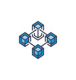 cryptocurrency and blockchain concept icon vector image