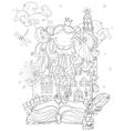 cute princess fairy girl in crown vector image