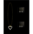 Elegant heart necklace set 2 vector image