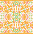 floral orange seamless ornament pattern of lilies vector image vector image