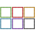 Frame design in six colors vector image vector image