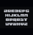 geometric letters set modern font retro de vector image