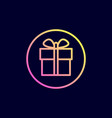 gift icon in flat line style vector image