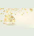 golden confetti falls on background a pig vector image vector image